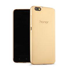 Cover TPU Trasparente Ultra Sottile Morbida per Huawei Honor 4X Oro