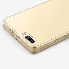 Cover TPU Trasparente Ultra Sottile Morbida per Huawei Honor 6 Plus Oro