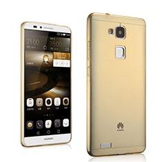 Cover TPU Trasparente Ultra Sottile Morbida per Huawei Mate 7 Oro
