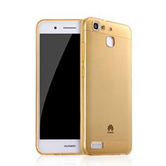 Cover TPU Trasparente Ultra Sottile Morbida per Huawei P8 Lite Smart Oro