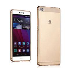 Cover TPU Trasparente Ultra Sottile Morbida per Huawei P8 Oro