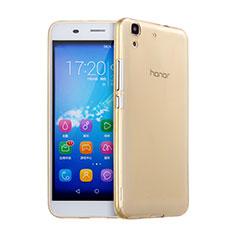 Cover TPU Trasparente Ultra Sottile Morbida per Huawei Y6 Oro