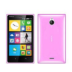 Cover TPU Trasparente Ultra Sottile Morbida per Nokia X2 Dual Sim Rosa