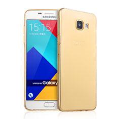 Cover TPU Trasparente Ultra Sottile Morbida per Samsung Galaxy A9 Pro (2016) SM-A9100 Oro