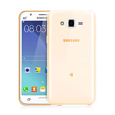 Cover TPU Trasparente Ultra Sottile Morbida per Samsung Galaxy J3 Oro