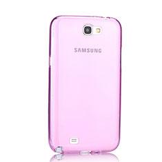 Cover TPU Trasparente Ultra Sottile Morbida per Samsung Galaxy Note 2 N7100 N7105 Rosa