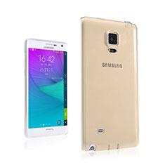 Cover TPU Trasparente Ultra Sottile Morbida per Samsung Galaxy Note Edge SM-N915F Oro
