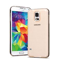 Cover TPU Trasparente Ultra Sottile Morbida per Samsung Galaxy S5 G900F G903F Oro
