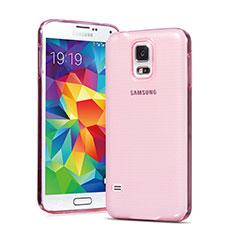 Cover TPU Trasparente Ultra Sottile Morbida per Samsung Galaxy S5 G900F G903F Rosa