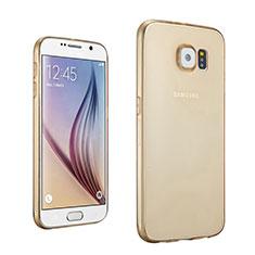 Cover TPU Trasparente Ultra Sottile Morbida per Samsung Galaxy S6 SM-G920 Oro