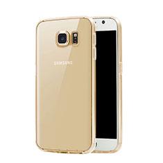 Cover TPU Trasparente Ultra Sottile Morbida per Samsung Galaxy S7 G930F G930FD Oro