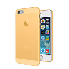 Cover Ultra Slim Trasparente Morbida Opaca per Apple iPhone 5S Oro