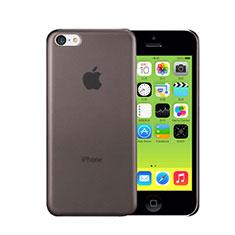 Cover Ultra Slim Trasparente Rigida Opaca per Apple iPhone 5C Grigio