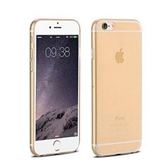 Cover Ultra Slim Trasparente Rigida Opaca per Apple iPhone 6 Plus Oro