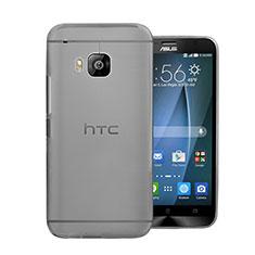 Cover Ultra Sottile Trasparente Rigida Opaca per HTC One M9 Grigio
