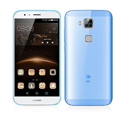 Cover Ultra Sottile Trasparente Rigida Opaca per Huawei G7 Plus Blu