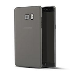 Cover Ultra Sottile Trasparente Rigida Opaca per Samsung Galaxy Note 7 Nero