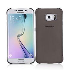 Cover Ultra Sottile Trasparente Rigida Opaca per Samsung Galaxy S6 Edge SM-G925 Grigio
