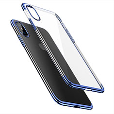 Cover Ultra Sottile Trasparente Rigida per Apple iPhone X Blu
