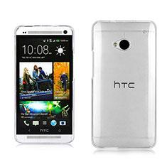 Custodia Crystal Trasparente Rigida per HTC One M7 Chiaro