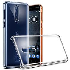 Custodia Crystal Trasparente Rigida per Nokia 8 Chiaro