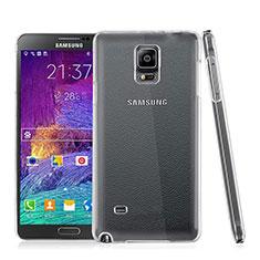 Custodia Crystal Trasparente Rigida per Samsung Galaxy Note 4 Duos N9100 Dual SIM Chiaro