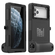 Custodia Impermeabile Silicone Cover e Plastica Opaca Waterproof Cover 360 Gradi per Apple iPhone 11 Pro Max Nero
