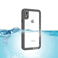 Custodia Impermeabile Silicone e Plastica Opaca Waterproof Cover 360 Gradi per Apple iPhone XR Nero
