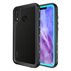 Custodia Impermeabile Silicone e Plastica Opaca Waterproof Cover 360 Gradi per Huawei P20 Lite Cielo Blu