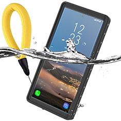 Custodia Impermeabile Silicone e Plastica Opaca Waterproof Cover 360 Gradi per Samsung Galaxy Note 10 5G Nero