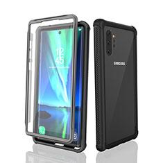 Custodia Impermeabile Silicone e Plastica Opaca Waterproof Cover 360 Gradi per Samsung Galaxy Note 10 Plus Nero