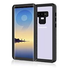 Custodia Impermeabile Silicone e Plastica Opaca Waterproof Cover 360 Gradi per Samsung Galaxy Note 9 Nero