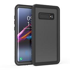 Custodia Impermeabile Silicone e Plastica Opaca Waterproof Cover 360 Gradi per Samsung Galaxy S10 5G Nero
