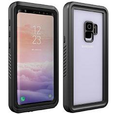 Custodia Impermeabile Silicone e Plastica Opaca Waterproof Cover 360 Gradi per Samsung Galaxy S9 Nero
