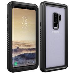Custodia Impermeabile Silicone e Plastica Opaca Waterproof Cover 360 Gradi per Samsung Galaxy S9 Plus Nero