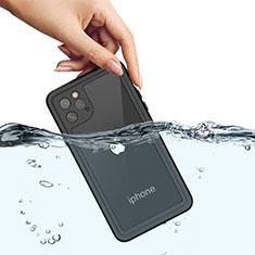 Custodia Impermeabile Silicone e Plastica Opaca Waterproof Cover 360 Gradi W01 per Apple iPhone 11 Pro Nero
