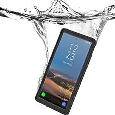 Custodia Impermeabile Silicone e Plastica Opaca Waterproof Cover 360 Gradi W01 per Samsung Galaxy Note 10 5G Nero