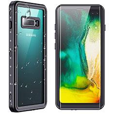 Custodia Impermeabile Silicone e Plastica Opaca Waterproof Cover 360 Gradi W01 per Samsung Galaxy S10 Plus Nero
