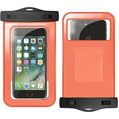 Custodia Impermeabile Subacquea Universale W02 per Huawei Mate 30 Pro Arancione