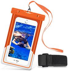 Custodia Impermeabile Subacquea Universale W03 per Huawei Mate 30 Pro Arancione