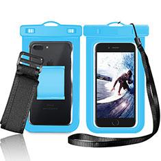 Custodia Impermeabile Subacquea Universale W05 per Xiaomi Redmi Note 7 Pro Blu
