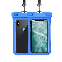 Custodia Impermeabile Subacquea Universale W07 per LG K52 Blu