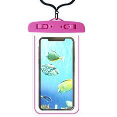 Custodia Impermeabile Subacquea Universale W08 per Apple iPhone 11 Pro Rosa Caldo