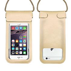 Custodia Impermeabile Subacquea Universale W10 per LG K52 Oro