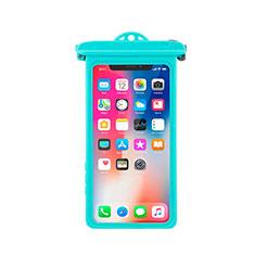 Custodia Impermeabile Subacquea Universale W14 per Apple iPhone 11 Pro Ciano