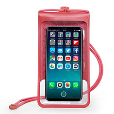 Custodia Impermeabile Subacquea Universale W15 per Apple iPhone SE 2020 Rosso