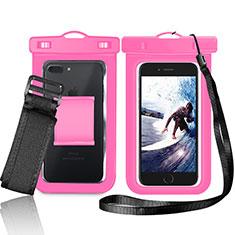 Custodia Impermeabile Waterproof Universale W05 per Huawei Mate 30 5G Rosa
