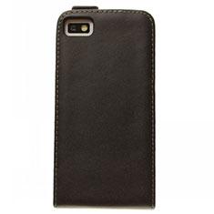 Custodia In Pelle Flip per Blackberry Z10 Nero