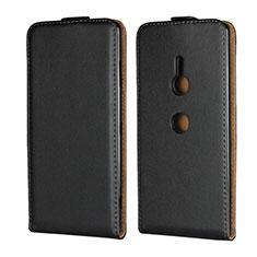 Custodia In Pelle Flip per Sony Xperia XZ3 Nero