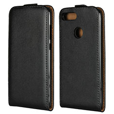 Custodia In Pelle Flip V01 per Huawei Honor 9 Lite Nero